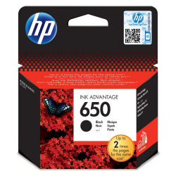 HP 650  Μελάνι Black CZ101AE