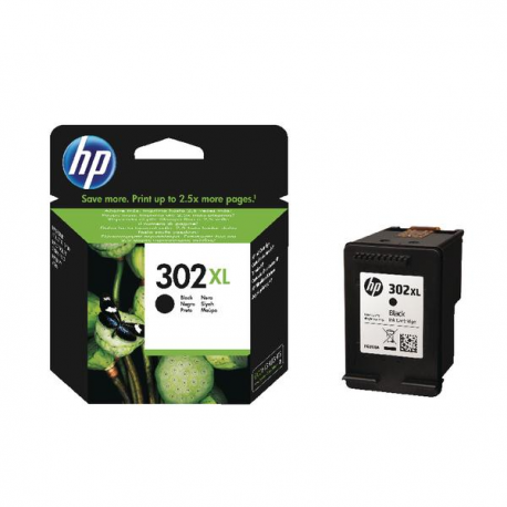 HP  302XL Black  F6U68AE