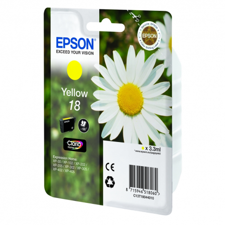 Ink Epson T180440 Yellow C13T18044010