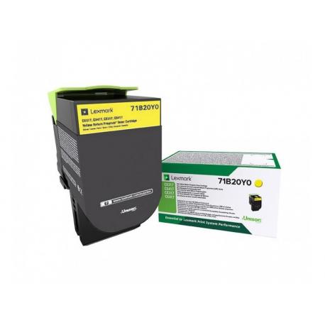 Αυθεντικό Toner Lexmark 71B20Y0 Yellow-2.3k Pgs