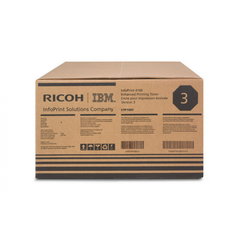 Richo Toner Black 57P1887 Version 3 100K (4 τεμ )