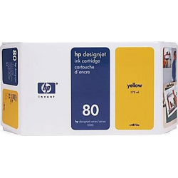 Hp 80 Yellow C4873A 175ml  2.200pgs