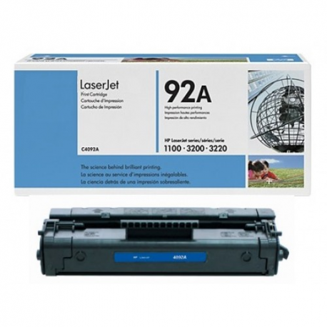 Toner HP No 92A Black C4092A 2.500 Pgs