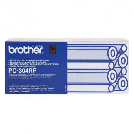 ΓΝΗΣΙΑ BROTHER PC-74RF - BLACK ΜΕΛΑΝΟΤΑΙΝΙΑ - 4 ΤΕΜΑΧΙΩΝ