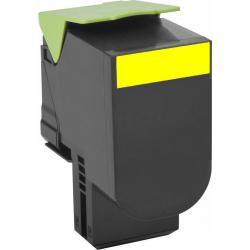ECO PREMIUM Lexmark Toner 802SY Yellow Return Program 80C2SY0 2.000 Pgs