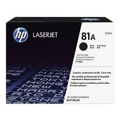 Toner HP No 81A Black CF281A 10.500 Pgs