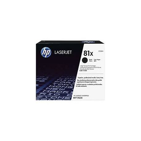 Toner HP No 81X Black HC CF281X 25.000 Pgs