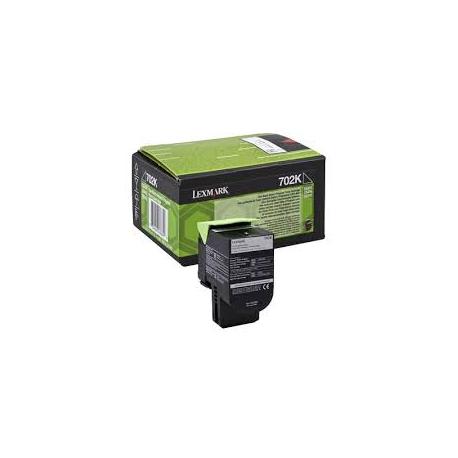Toner Lexmark 702K Black 70C20K0 1.000 Pgs