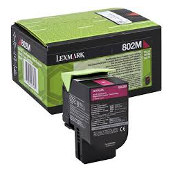 Toner Lexmark 802M Magenta Return 80C20M0 1.000 Pgs