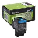 Toner Lexmark 802C Cyan Return 80C20C0 1.000 Pgs