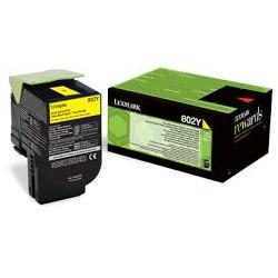 Toner Lexmark 802Y Yellow Return 80C20Y0 1.000 Pgs