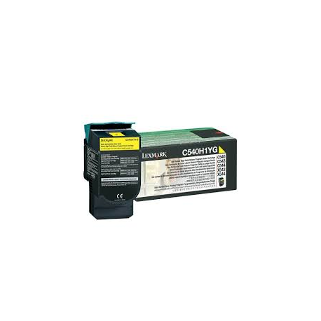 Toner Lexmark C54x / X54x Yellow High Yield C540H1Y 2.000 Pgs
