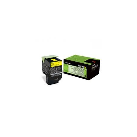 Toner Lexmark 802HY Yellow Extra High Yield 80C2HY0 3.000 Pgs