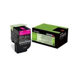 Toner Lexmark 802HC Cyan Extra High Yield 80C2HC0 3.000 Pgs