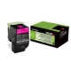 Toner Lexmark 802SM Magenta High Yield Return 80C2SM0 2.000 Pgs