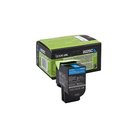 Toner Lexmark 802SC Cyan High Yield Return 80C2SC0 2.000 Pgs