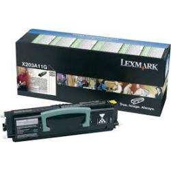 Toner Lexmark X204 Black X203A11 2.500 Pgs