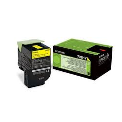Toner Lexmark 702HY Yellow 70C2HY0 3.000 Pgs
