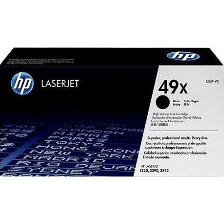 Toner HP No 49X Black HC Q5949X 6.000 Pgs