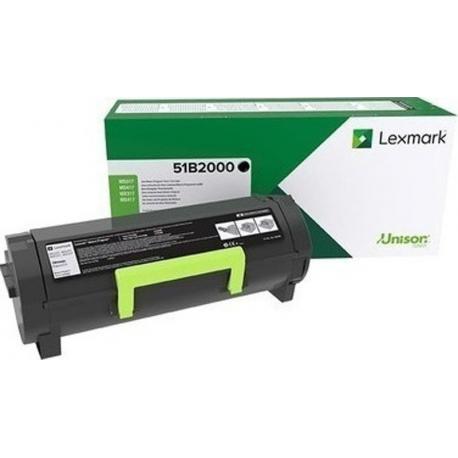 Lexmark Toner Black 51B2000 2.500pgs